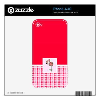 Flamenco rosado lindo iPhone 4S skin
