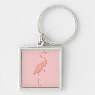 Flamenco rosado llaveros personalizados