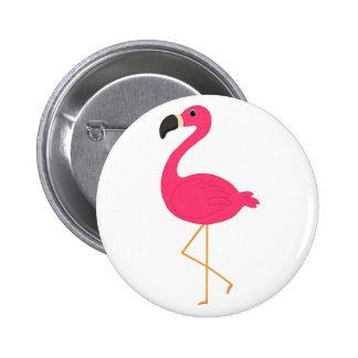 Flamenco rosado pin redondo 5 cm