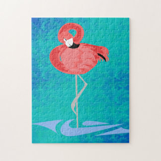 Flamenco rosado rompecabezas
