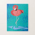 Flamenco rosado puzzles con fotos