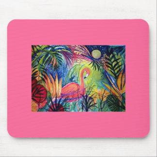 Flamenco rosado tapete de ratón