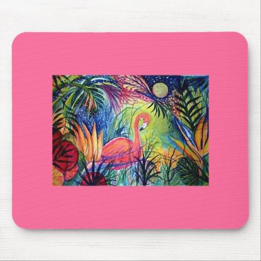 Flamenco rosado tapetes de ratones
