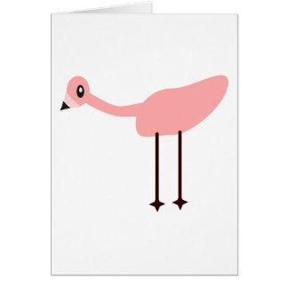 Flamenco rosado tarjeta de felicitación