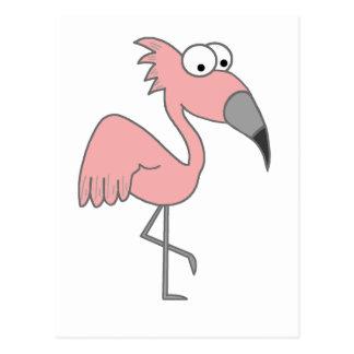 Flamenco rosado tarjeta postal