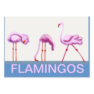 Flamenco rosado tarjetas de visita grandes
