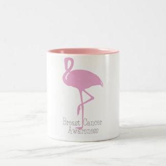 Flamenco rosado taza de café de dos colores
