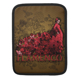 Flamenco Spain Dance Art red black brown iPad Sleeve