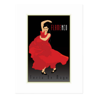 Flamenco Tarjeta Postal
