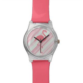 Flamenco tropical elegante relojes