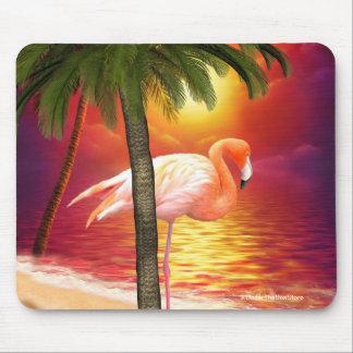 Flamenco tropical Mousepad del paraíso Tapetes De Ratón