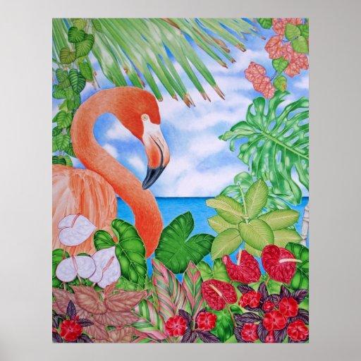 Flamenco tropical poster