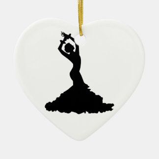 Flamenco woman ceramic ornament