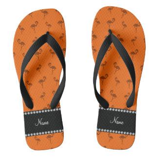 Flamencos anaranjados conocidos personalizados