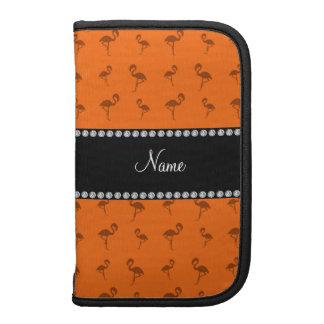 Flamencos anaranjados conocidos personalizados organizadores