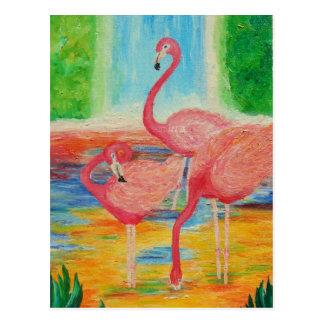 Flamencos bonitos postales