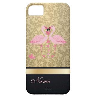 Flamencos con clase de lujo del damasco iPhone 5 cobertura