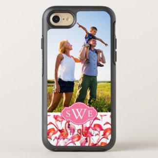 Flamencos de la acuarela de la foto y del funda OtterBox symmetry para iPhone 7