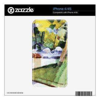 Flamencos en el parque zoológico en agosto Macke Skins Para iPhone 4S