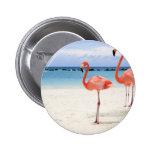 Flamencos en la playa pins