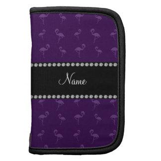 Flamencos púrpuras conocidos personalizados organizador