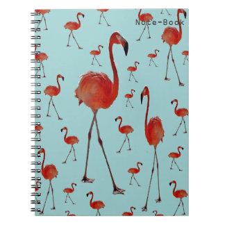 Flamencos que caminan notebook