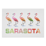 Flamencos que marchan Sarasota Impresiones
