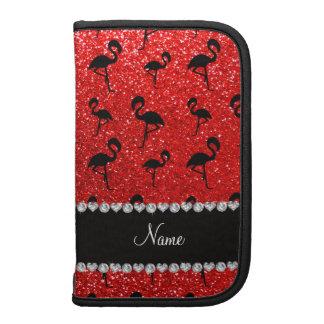 Flamencos rojos de neón conocidos personalizados d planificador