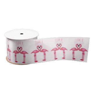 flamencos rosados - amor u de I - cinta Lazo De Raso
