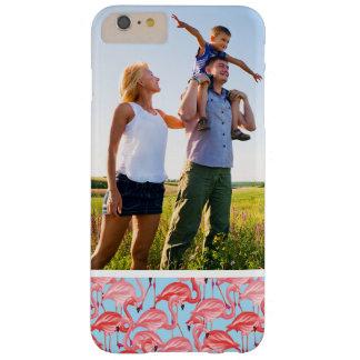 Flamencos rosados brillantes de la foto de encargo funda barely there iPhone 6 plus