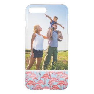 Flamencos rosados brillantes de la foto de encargo fundas para iPhone 7 plus