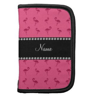 Flamencos rosados conocidos personalizados planificador
