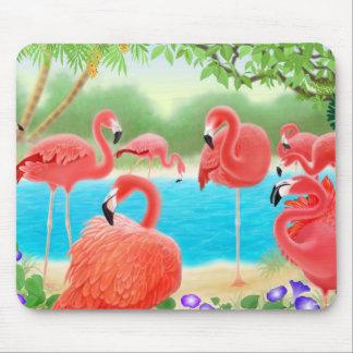 Flamencos rosados del Caribe Mousepad Alfombrillas De Ratón