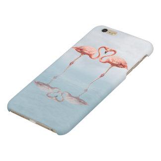 Flamencos rosados en caso más del iPhone 6 mates