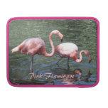 Flamencos rosados funda para macbooks