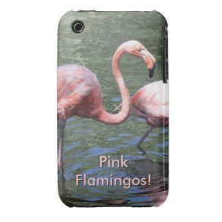Flamencos rosados iPhone 3 carcasas