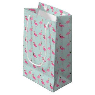 Flamencos rosados lindos bolsa de regalo pequeña