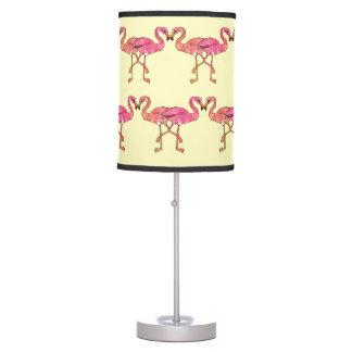 Flamencos rosados lindos de la acuarela en lámpara de mesilla de noche