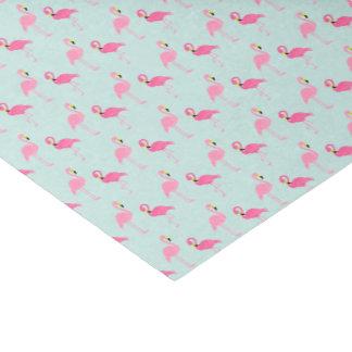 Flamencos rosados lindos papel de seda pequeño