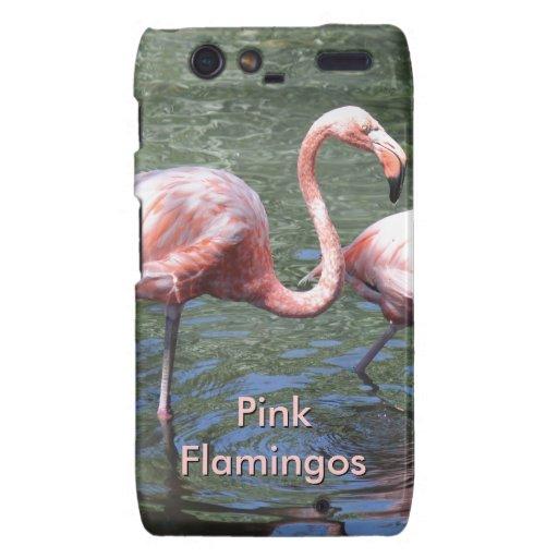 Flamencos rosados motorola droid RAZR funda