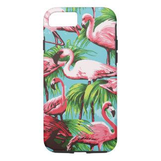 Flamencos rosados retros frescos funda iPhone 7