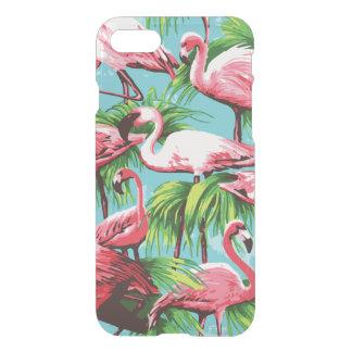 Flamencos rosados retros frescos funda para iPhone 7