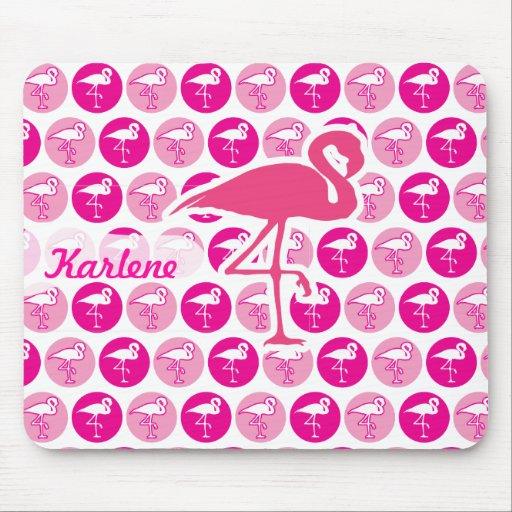 Flamencos rosados tapete de raton