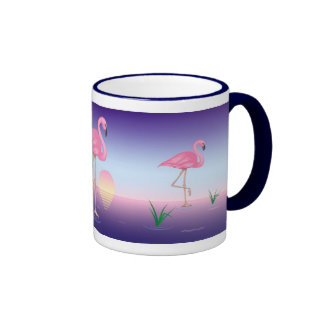 Flamencos rosados taza de café