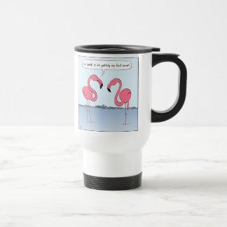 Flamencos rosados tazas de café