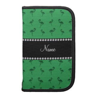 Flamencos verdes conocidos personalizados planificadores