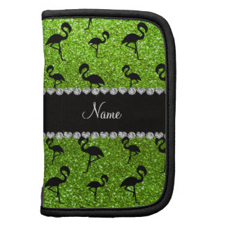 Flamencos verdes de neón conocidos personalizados  planificador