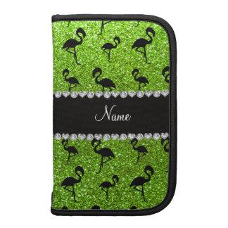 Flamencos verdes de neón conocidos personalizados  planificadores