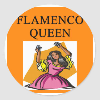 flameno queen classic round sticker