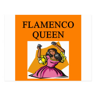 flameno queen postcard